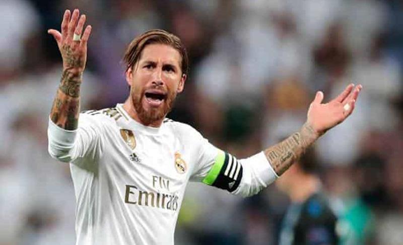 Sergio Ramos, en un compromiso con el Real Madrid