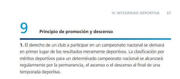 El artículo 9 en los estatutos de la FIFA