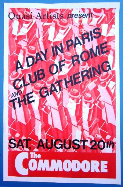 1995 TIM FINN 10,000 MANIACS Concert GIG Tour Poster Vancouver Canada ORIGINAL