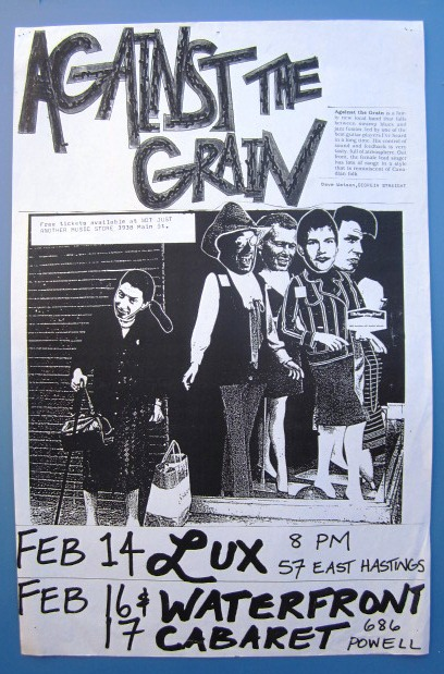A DAY IN PARIS / CLUB OF ROME / THE GATHERING 1988 Concert GIG Tour Poster Vancouver Canada ORIGINAL