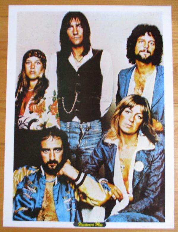 """FLEETWOOD MAC Vintage 1970's Poster 23"""" x 17"""" Original"""