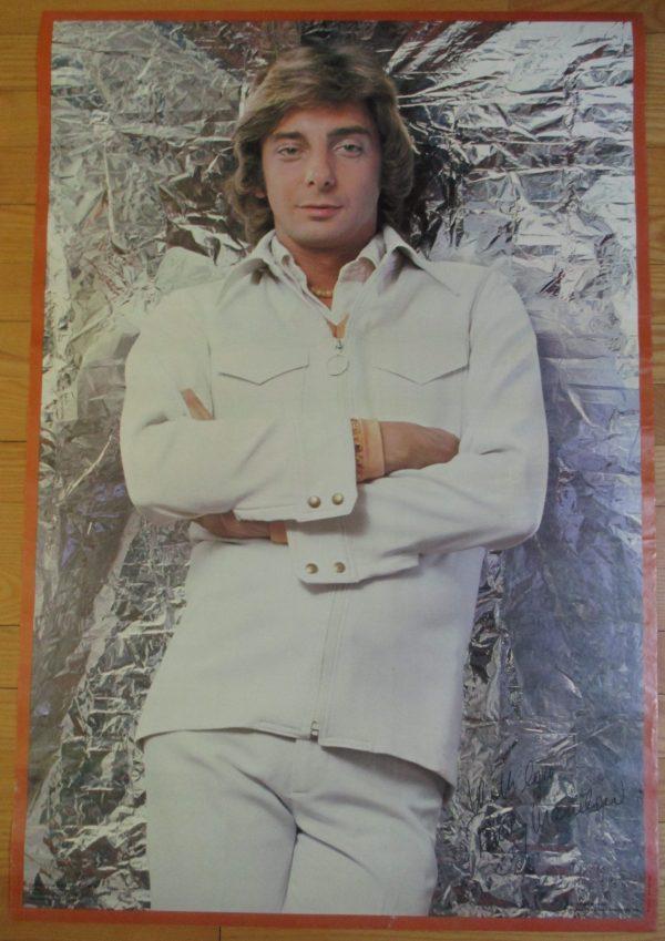 "MANILOW, BARRY Vintage 1976 Poster 34"" x 23"" Original"