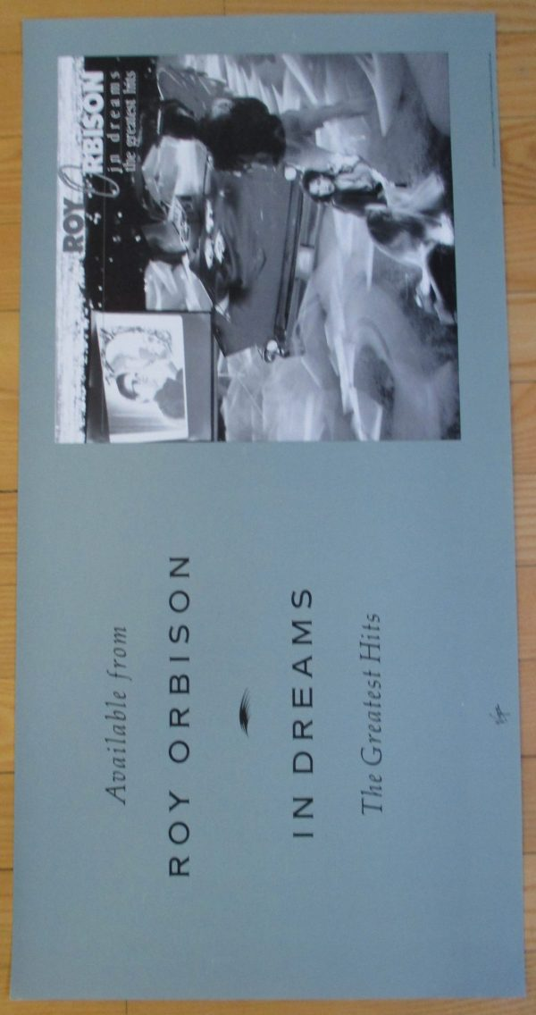 "ORBISON, ROY Vintage Promo Poster 1987 ""IN DREAMS"" Original 24"" x 12"""