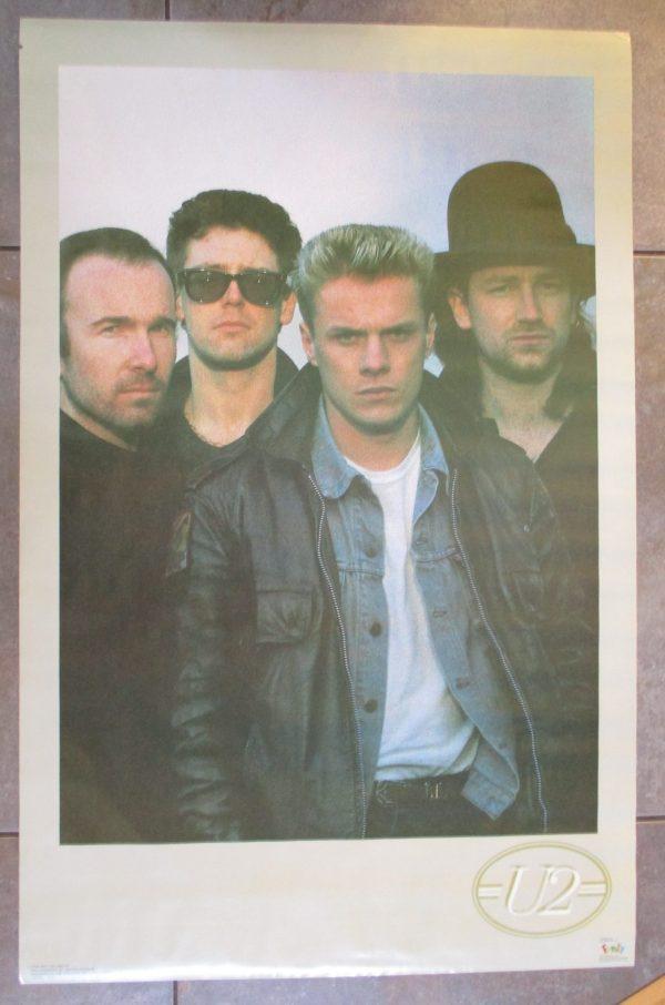 U2 Vintage Poster 1986 Original 34″ x 22″ Funky