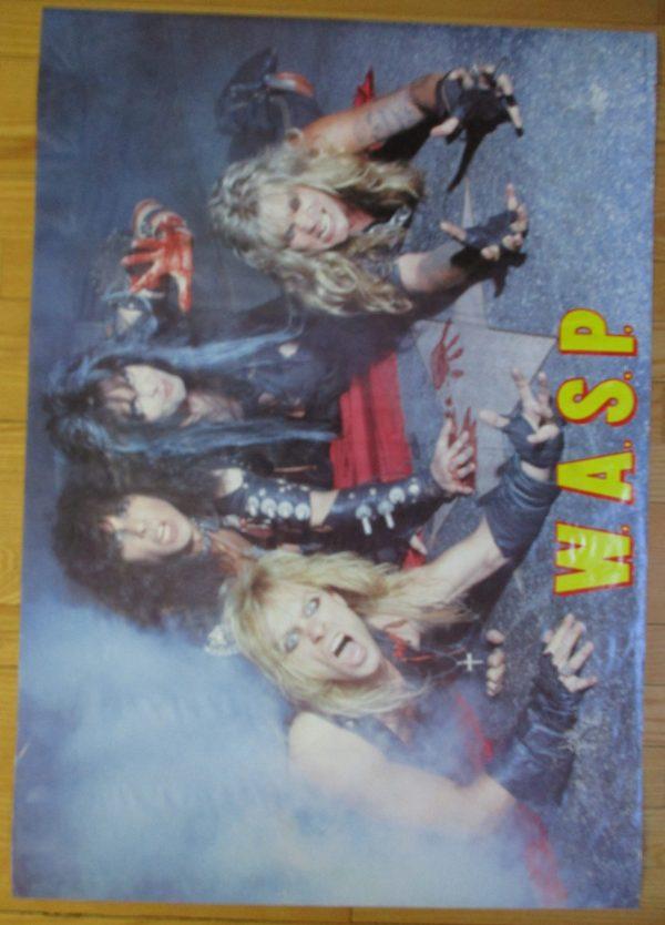 W.A.S.P. Vintage Poster 1984 Original 33″ x 23″
