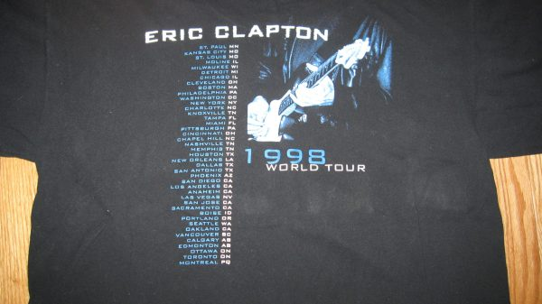 CLAPTON, ERIC 1998 TOUR T-SHIRT XL