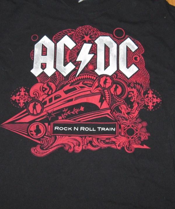 AC/DC BLACK ICE TOUR T-SHIRT XL
