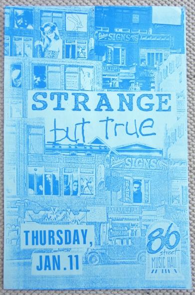 STRANGE BUT TRUE Concert GIG Tour Poster Vancouver, Canada ORIGINAL