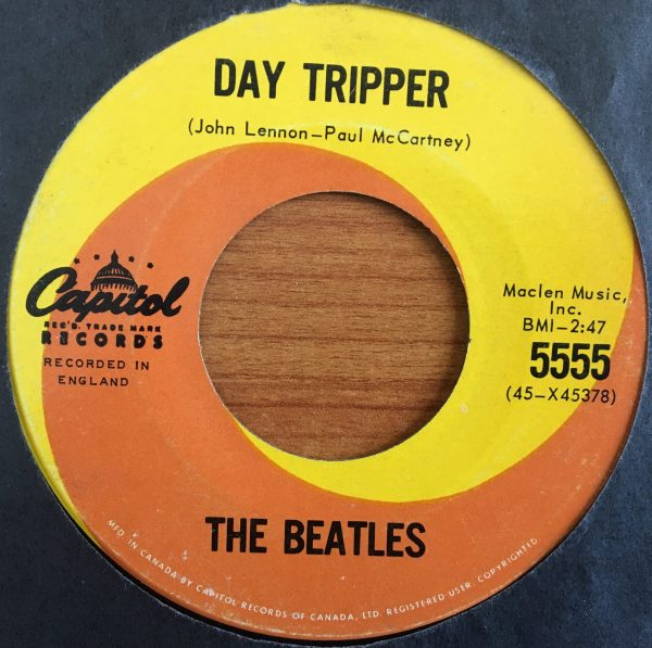 BEATLES, The – Canadian 45 RPM – 5555 – DAY TRIPPER / WE CAN WORK IT OUT