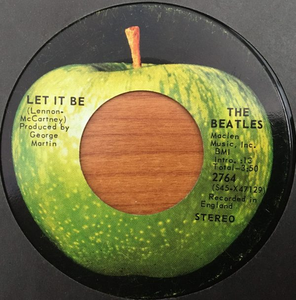 BEATLES, The – Canadian 45 RPM – 2764 – LET IT BE / YOU KNOW MY NAME