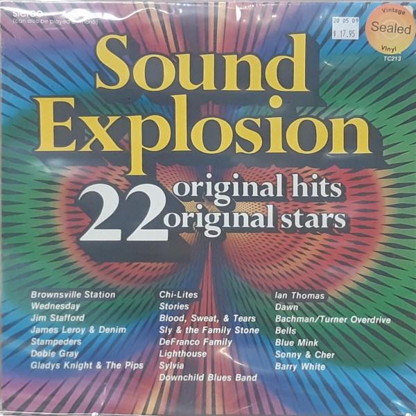 SOUND EXPLOSION, 22 Original Hits - Various Artists - Vintage LP SEALED