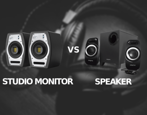 STUDIO MONITORS VS SPEAKERS