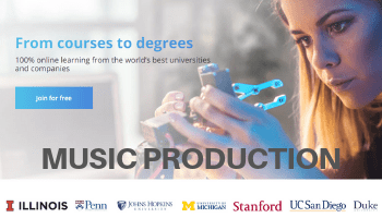 coursera music production coupon