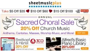 sheet music plus coupon