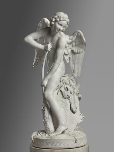 Edme Bouchardon, L'Amour se faisant un arc dans la massue d'Hercule. Département des Sculptures, musée du Louvre © RMN - Grand Palais (Musée du Louvre), Hervé Lewandowski