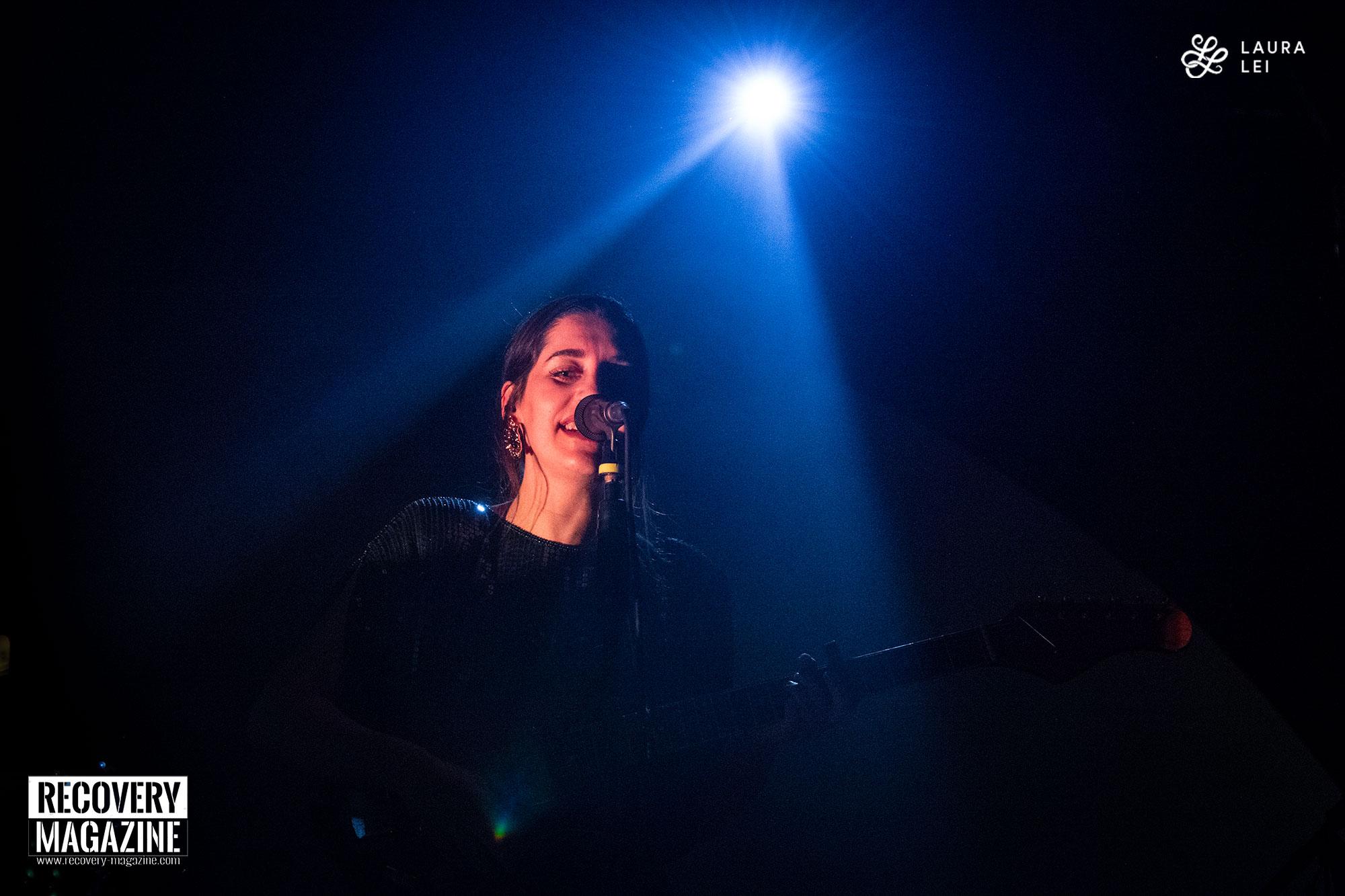 Eefje de Visser smiling during a concert in Bologna, Italy