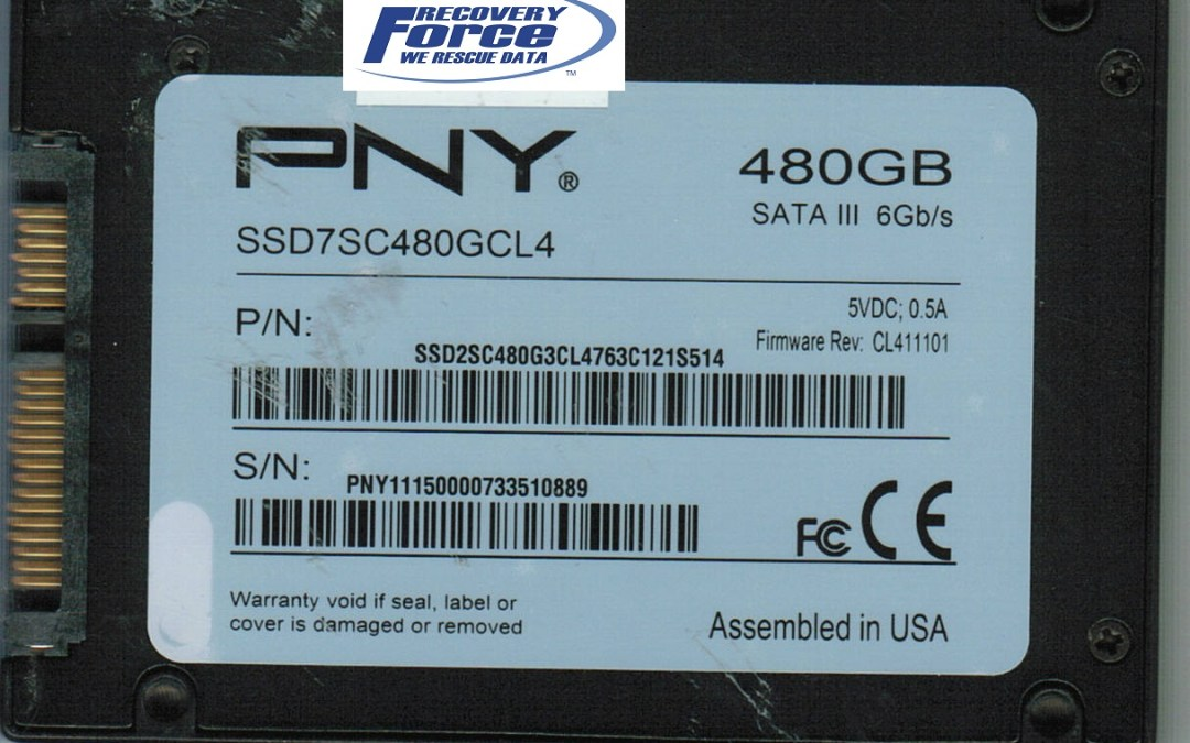 Pny 480gb Ssd With Failing Sandforce Controller Recovered Canada