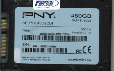 PNY 480GB SSD with Failing Sandforce Controller Recovered