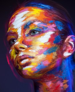 Painted Woman Face - Colors - Recovery Warriors Blog Living As If