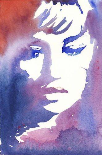 sad watercolor