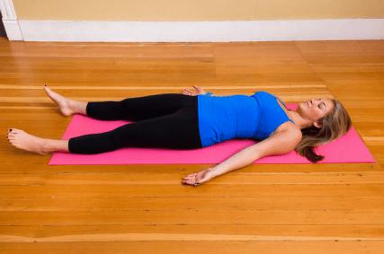yoga pose: corpse pose