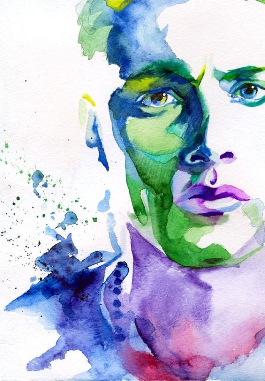man-watercolor