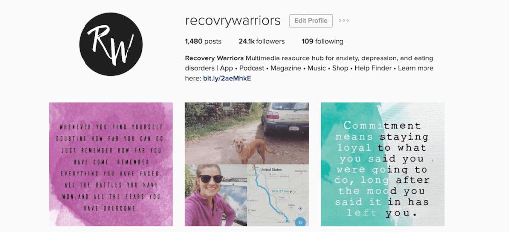 Instagram Recovery Warriors