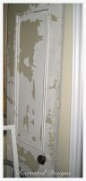 salvaged door from old farmhouse in Ottawa, Ontario, Canada