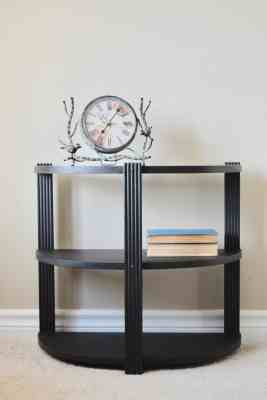 Black Art Deco 3-tiered stand