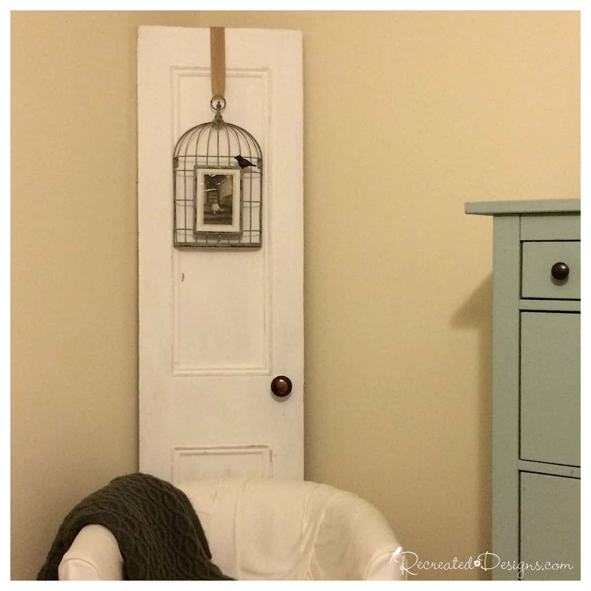 ... salvaged_door_with_antique_photo & A Salvaged Door Speaks of Family History - Recreated Designs pezcame.com