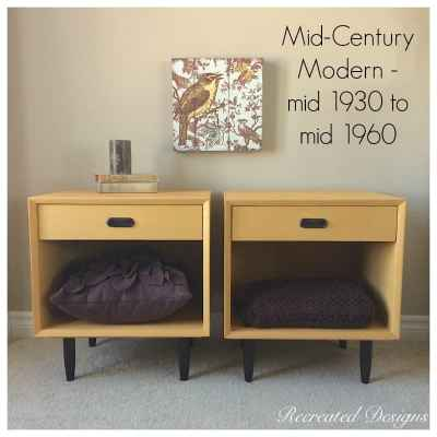 example of a set of mid-century modern night stands