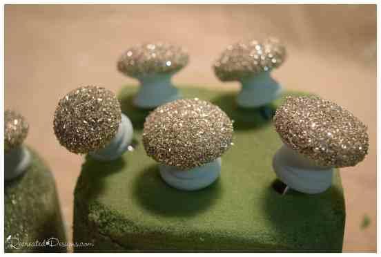 german glass glitter knobs