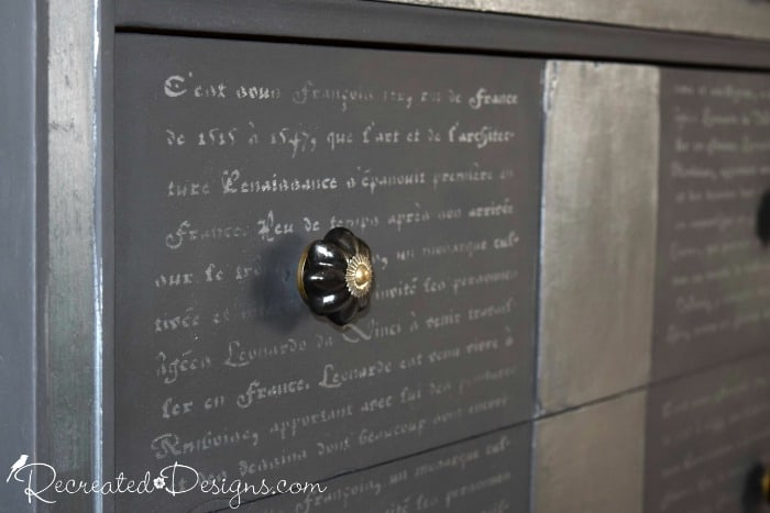 French Script in Country Chic Paint Metallic Cream