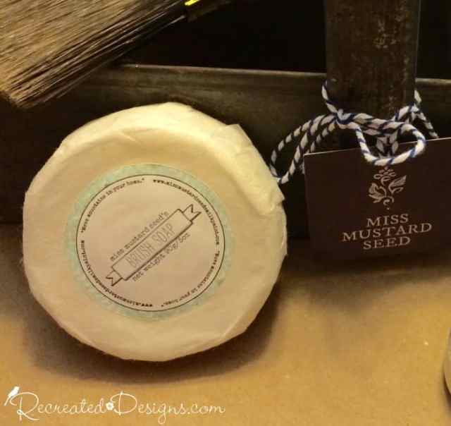 Miss Mustard Seed Milk Paint Brush soap and paint brush