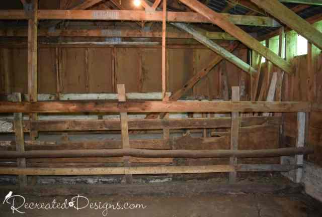 inside an old barn in Hemmingford, Quebec