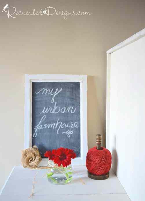 my urban farmhouse chalkboard