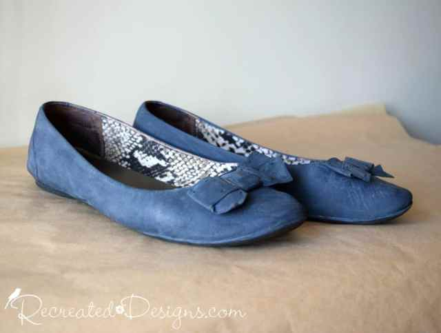 Leather shoes painted with Country Chic Paint