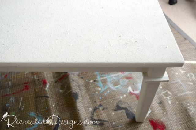 applying Miss Mustard Seed Milk Paint in Farmhouse White over Saltwash