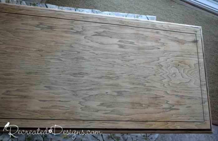 sanded down table top