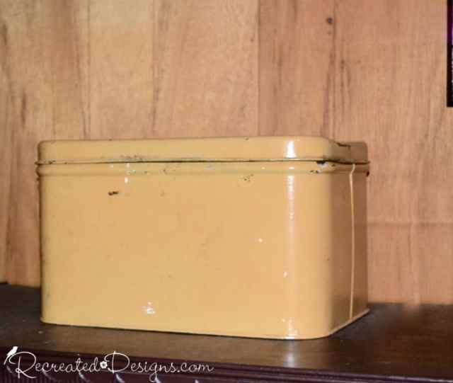vintage yellow bread box