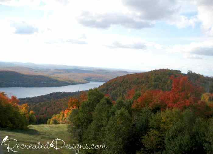 the beginning of Fall in Mont Tremblant, Quebec