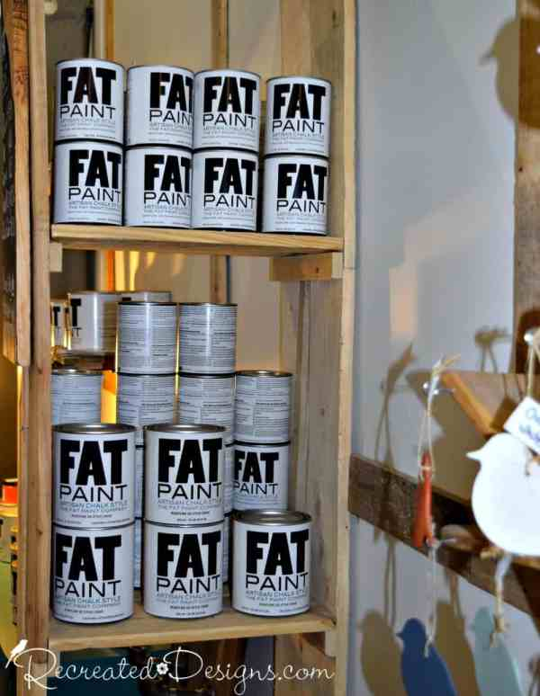 FAT paint display at Bluebird Upcycle in Ottawa, ON