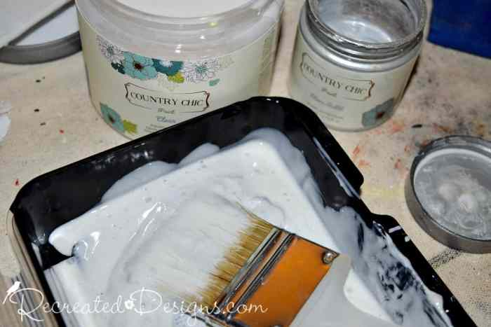 mixing-country-chic-paint-clear-glaze-silver-bullet-metallic-cream-recreateddesigns