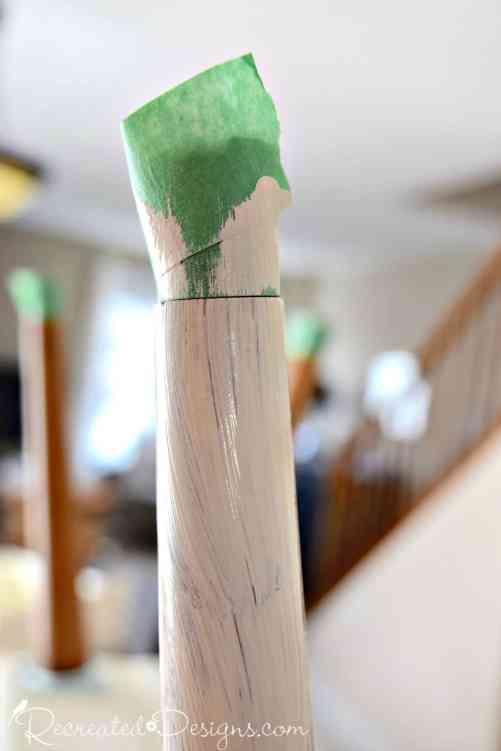 painting salvaged mid century modern legs