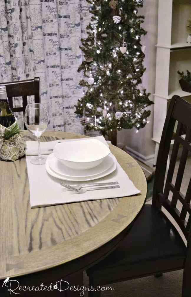 rustic holiday table with place setting