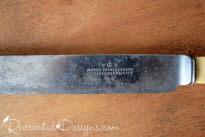 Knife blade from very old English knife Joseph Rodgers and Sons Cutlers to Her Majesty