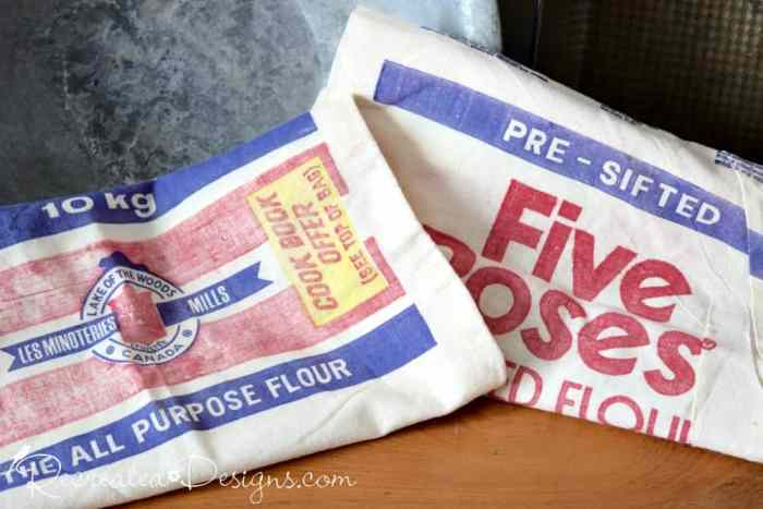 old Five Rose flour sacks