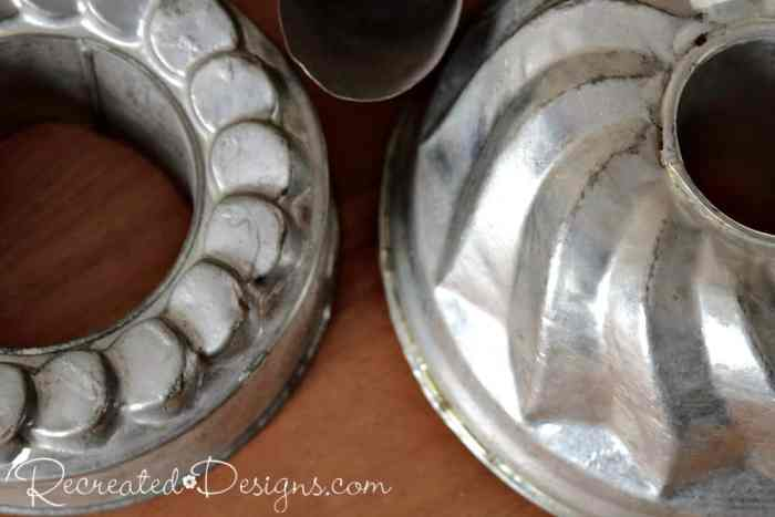 old tin jelly molds
