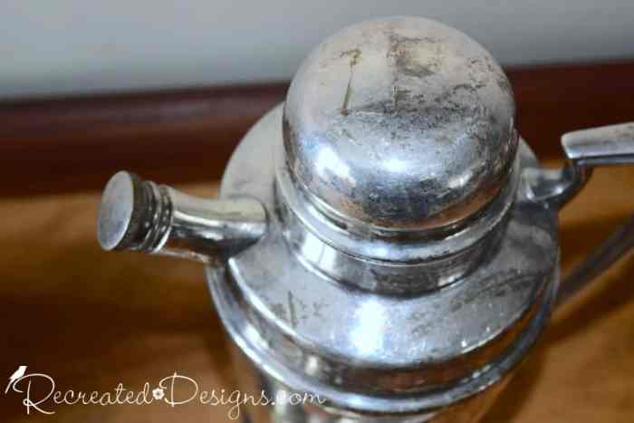vintage silver coffee pot