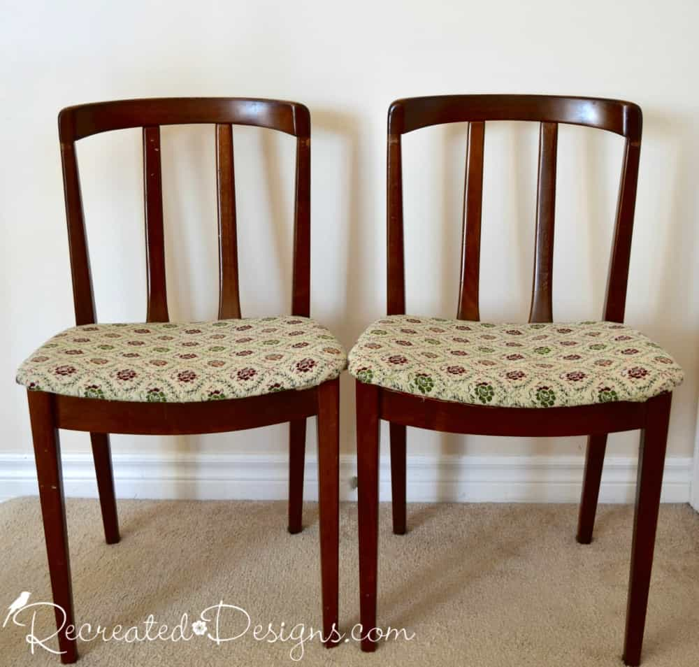 ... Old Art Deco Wood Chairs